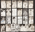 Baseball Collectibles:Others, Baseball Stars Signed Postcards Lot of 25....