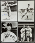 Baseball Collectibles:Photos, Baseball Stars Signed and Unsigned Photographs Lot of 14....