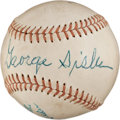 Baseball Collectibles:Balls, George Sisler Multi Signed Baseball....