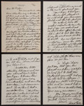 Baseball Collectibles:Others, 1929 Eddie Collins Handwritten, Signed Four Page Letter....