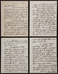 1929 Eddie Collins Handwritten, Signed Four Page Letter