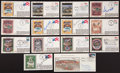 Baseball Collectibles:Others, Baseball Stars and Hall of Famers Signed First Day Covers Lot of14....