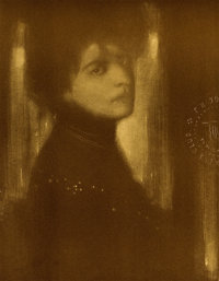 EDWARD STEICHEN (American, 1879-1973) Portrait, 1903 Photogravure 6-1/2 x 5-1/4 inches (16.5 x 13
