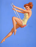 Pin-up and Glamour Art, JULES ERBIT (American, 1889-1968). Swing Time. Pastel onboard. 39.5 x 29.5 in.. Signed center right. From theEstat...