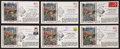 Baseball Collectibles:Others, Boston Red Sox Legends Signed First Day Covers Lot of 6....