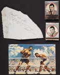 Boxing Collectibles:Autographs, Jack Dempsey Signed Cut and Unsigned Memorabilia Lot....