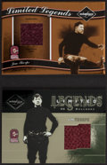"Football Cards:Singles (1970-Now), 2003 & '04 Leaf Limited ""Limited Legends"" Jim Thorpe JerseySwatch Card Pair (2). ..."