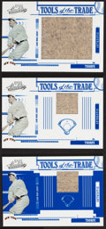 """Baseball Cards:Singles (1970-Now), 2005 Playoff """"Tools of The Trade"""" Jim Thorpe Jersey Swatch Card Trio (3). ..."""