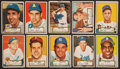 Baseball Cards:Sets, 1952 Topps Baseball Collection (24) - All First Series Red Backs With Pafko....