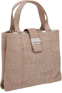 """Louis Vuitton Powder Pink Brushed Python Perforated Monogram Defile Femme Collection Show Bag, 12"""" x 10"""" x 4&q..."""