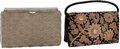 Luxury Accessories:Bags, Set of Two: Intricate Mid-Century Evening Bags, Black VelvetWristlet with Ruby, Emerald, Moonstone, Quartz, & CitrineCabochons... (Total: 2 Items)