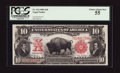 Large Size:Legal Tender Notes, Fr. 114 $10 1901 Legal Tender PCGS Choice About New 55.. ...