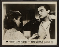 """King Creole (Paramount, 1958). British Front of House Photo Set of 8 (8"""" X 10""""). Elvis Presley. ... (Total: 8..."""