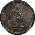 Seated Quarters: , 1845 25C MS62 NGC. NGC Census: (7/37). PCGS Population (13/25).Mintage: 922,000. Numismedia Wsl. Price for problem free NG...