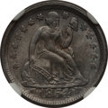 Seated Dimes: , 1854 10C Arrows MS64 NGC. NGC Census: (44/36). PCGS Population(36/31). Mintage: 4,470,000. Numismedia Wsl. Price for probl...