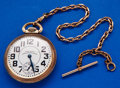 Timepieces:Pocket (post 1900), Waltham 23 Jewel Vanguard Pocket Watch With Chain. ...