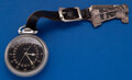 Timepieces:Pocket (post 1900), Elgin 22 Jewel B.W. Raymond Military Model With fob. ...
