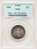 Proof Seated Quarters, 1880 25C PR65 PCGS....