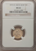 Seated Dimes, 1875-CC 10C Mintmark Above Bow MS65 NGC....