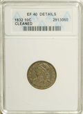 Bust Dimes: , 1832 10C --Cleaned--ANACS. XF40 Details. NGC Census: (3/212). PCGSPopulation (10/211). Mintage: 522,500. Numismedia Wsl. Pr...
