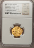 Ancients:Byzantine, Ancients: BYZANTINE EMPIRE. Constans II (AD 641-668) withConstantine IV . AV solidus (4.34 gm). ...