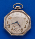 Timepieces:Pocket (post 1900), Waltham 14k White Gold 12 Size. ...