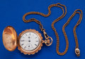 Timepieces:Pocket (post 1900), Elgin 0 Size Hunter's Case Pocket Watch With Slide Chain. ...