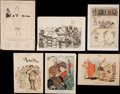 Football Collectibles:Publications, 1878-1901 Harper's Weekly and Other Publications Football Illustrations Lot of 14....