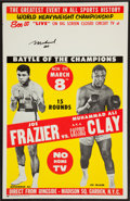 Boxing Collectibles:Autographs, Muhammad Ali Signed Ali/Frazier Closed Circuit Fight Poster. ...