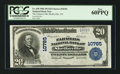 National Bank Notes:Tennessee, Shelbyville, TN - $20 1902 Plain Back Fr. 658 The Farmers NB Ch. #10785. ...