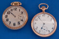 Timepieces:Pocket (post 1900), Two Elgin's 16 Size Pocket Watches Runners. ...