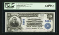 National Bank Notes:Tennessee, Dyersburg, TN - $10 1902 Plain Back Fr. 633 The First NB Ch. #5263. ...