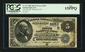 National Bank Notes:Pennsylvania, Monessen, PA - $5 1882 Date Back Fr. 537 The First NB Ch. # (E)5253. ...