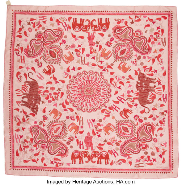 9aa21ff4a37c Luxury Accessories Accessories, Hermes Pink  amp  Red Silk Scarf,
