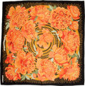 "Luxury Accessories:Accessories, Hermes Silk Scarf, ""Les Pivoines,"" 36"" x 36"", Pristine Condition...."