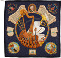 "Luxury Accessories:Accessories, Hermes Silk Scarf, ""Hommage a Mozart"" by J.A. Burdie, 36"" x 36"", Excellent Condition. ..."