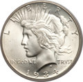 Peace Dollars, 1934-S $1 MS66 PCGS. CAC....