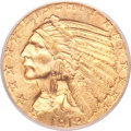 Indian Half Eagles, 1913-S $5 MS63 PCGS. CAC....