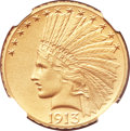 Proof Indian Eagles, 1913 $10 PR67 NGC....