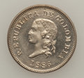 Colombia, Colombia: Republic 5 Cents CuNi Trio 1886-88, ... (Total: 3 coins)