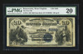 National Bank Notes:West Virginia, Ronceverte, WV - $20 1882 Date Back Fr. 555 The First NB Ch. #(S)5280. ...
