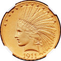 Proof Indian Eagles, 1911 $10 PR67 NGC....