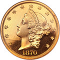 Proof Liberty Double Eagles, 1870 $20 PR65 Ultra Cameo NGC. CAC....