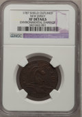 Colonials, 1787 COPPER New Jersey Copper, Outlined Shield--EnvironmentalDamage--NGC Details. XF. NGC Census: (3/14). PCGS Population ...