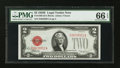 Small Size:Legal Tender Notes, Fr. 1506 $2 1928E Legal Tender Note. PMG Gem Uncirculated 66 EPQ.. ...