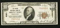 National Bank Notes:Pennsylvania, Mount Wolf, PA - $10 1929 Ty. 1 The Union NB Ch. # 9361. ...