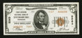 National Bank Notes:Tennessee, Dyersburg, TN - $5 1929 Ty. 2 First-Citizens NB Ch. # 5263. ...