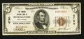 National Bank Notes:West Virginia, Buckhannon, WV - $5 1929 Ty. 1 The Traders NB Ch. # 4760. ...
