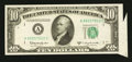 Error Notes:Attached Tabs, Fr. 2014-A $10 1950D Federal Reserve Note. Very Choice CrispUncirculated.. ...