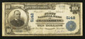 National Bank Notes:Pennsylvania, McKees Rocks, PA - $10 1902 Plain Back Fr. 632 The First NB Ch. #5142. ...